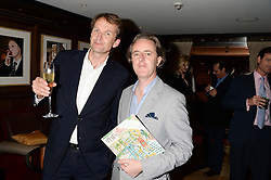 Left to right, JASON COWLEY editor of The New Statesman and artist ADAM DANT at a party to celebrate Ben Goldsmith guest-editing the July/August 2013 edition of Spears Magazine held at 45 Park Lane, London on 19th June 2013.
