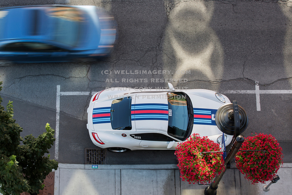 Image of a Martini Livery Porsche Cayman during Porsche Parade in Spokane, Washington, Pacific Northwest by Randy Wells