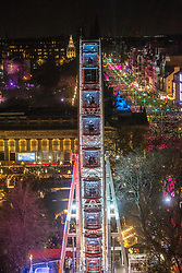 View from the Scot Monument before the fireworks, Edinburgh's Hogmanay Street Party, Sunday 31st December.
