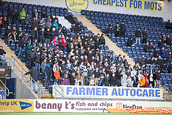 Fraserburgh's fans before the game.<br /> Falkirk 4 v 1 Fraserburgh, Scottish Cup third round, played 28/11/2015 at The Falkirk Stadium.
