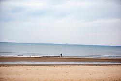 The beach at Portobello. Edinburgh on the day after the Lockdown.