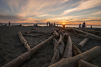 Carkeek Park at Sunset, Seattle