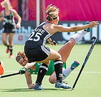 ANTWERP - BELFIUS EUROHOCKEY Championship.women  Ireland-Gemany (1-1).  Germany placed for semifinals .  Viktoria Huse (Ger) with Shirley McCay (Irl) .  WSP/ KOEN SUYK