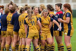 Bristol Ladies celebrate victory - Rogan Thomson/JMP - 08/10/2016 - RUGBY UNION - Kingston Park - Newcastle, England - Darlington Mowden Park Sharks v Bristol Ladies Rugby - RFU Women's Premiership.