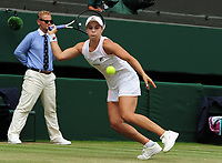 Tennis - 2019 Wimbledon Championships - Week One, Saturday (Day Six)<br /> <br /> Womens singles, 4th Round <br /> Ashleigh Barty (AUS) v Harriet Dart (GBR)<br /> <br /> Ashleigh Barty on  Centre Court <br /> <br /> COLORSPORT/ANDREW COWIE