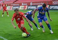 Fotball, 12. juli 2020, Eliteserien, Brann - Sandefjord - Thomas Grøgaard<br /> Erik Brenden<br /> Vidar Ari Jonsson