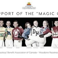 """Jockeys in support of """"CAMP OOCH"""""""