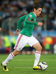Guillermo Franco of Mexico during the 2010 FIFA World Cup South Africa Round of Sixteen match between Argentina and Mexico at Soccer City Stadium on June 27, 2010 in Johannesburg, South Africa. Argentina defeated Mexico 3-1 and qualified for quarterfinals. (Photo by Vid Ponikvar / Sportida)