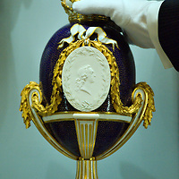 LONDON, ENGLAND - MAY 22:  A Sevres Vase with Portrait Medallion of Louis XV  on May 22, 2009 in London, England. The Vase is part of the Sevres Exhibition that will open on May 23rd at the Queen's  Gallery  (Photo by Marco Secchi/Getty Images)