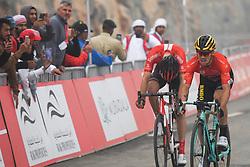 March 1, 2019 - Ajman, United Arab Emirates - The Red Jersey, Primoz Roglic (Right) of Slovenia and Team Jumbo - Visma, wins the sixth Rak Properties Stage of UAE Tour 2019, ahead of Tom Dumoulin (Sunweb Team), a 180km with a start from Ajman and finish in Jebel Jais. .On Friday, March 1, 2019, in Jebel Jais, Ras Al Khaimah Emirate, United Arab Emirates. (Credit Image: © Artur Widak/NurPhoto via ZUMA Press)