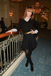 TARA PALMER-TOMKINSON at a party to celebrate the publication of The Romanovs 1613-1918 by Simon Sebag-Montefiore held at The Mandarin Oriental, 66 Knightsbridge, London on 2nd February 2016.