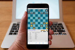 Using iPhone smartphone to display game of chess