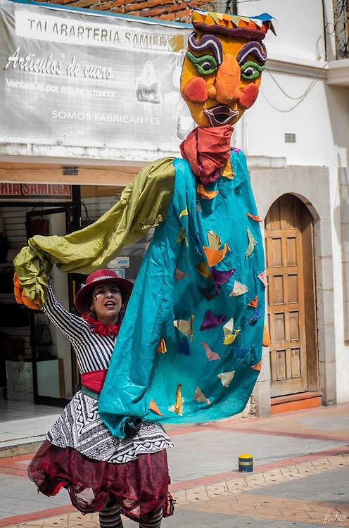Carnival Puppeteer at Carnival in Cotacachi, Ecuador