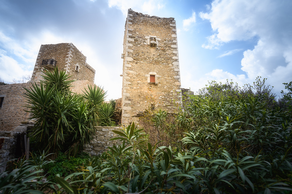 Mani Stone Towers at Vathia village on the Mani Peninsula, Greece