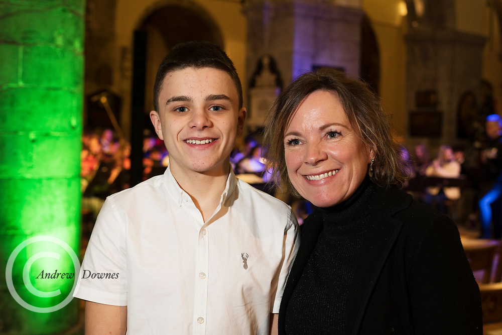 15/12/2019 repro free: Actor Ely Solan and Olyvia Flynn Solan from Headford  at the Galway Traditional Orchestra Christmas Concert in St Nicholas's. Photo:Andrew Downes, xposure.ie