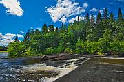 Viburnum Falls. Whiteshell River west of Pine Point Rapids<br />Whiteshell Provincial Park<br />Manitoba<br />Canada