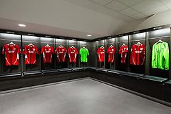 New home team dressing room in the Lansdown Stand at Ashton Gate - Rogan Thomson/JMP - 30/01/2017 - SPORT - Ashton Gate Stadium - Bristol, England - New West Stand Facilities.