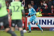 Joe Day of Wimbledon  during the EFL Sky Bet League 1 match between Accrington Stanley and AFC Wimbledon at the Fraser Eagle Stadium, Accrington, England on 1 February 2020.