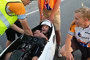 Jan Bos is erg tevreden over zijn race op de vijfde racedag van de WHPSC. In de buurt van Battle Mountain, Nevada, strijden van 10 tot en met 15 september 2012 verschillende teams om het wereldrecord fietsen tijdens de World Human Powered Speed Challenge. Het huidige record is 133 km/h.<br /> <br /> Jan Bos is happy with his race on the fifth day of the WHPSC. Near Battle Mountain, Nevada, several teams are trying to set a new world record cycling at the World Human Powered Vehicle Speed Challenge from Sept. 10th till Sept. 15th. The current record is 133 km/h.