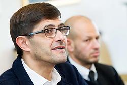 Matjaz Rakovec during press conference of Slovenian Ice hockey Federation HZS, on December 27, 2013 in Hala Tivoli, Ljubljana, Slovenia.  Photo by Vid Ponikvar / Sportida