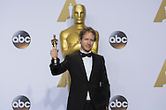 """88th Academy Awards press room.<br /> Best foreign language film winner Laszlo Nemes for the film """"Son of Saul."""""""