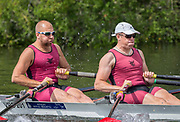 Henley Royal Regatta, Henley on Thames, Oxfordshire, 28 June - 2 July 2017.  Friday  10:51:44   30/06/2017  [Mandatory Credit/Intersport Images]<br /> <br /> Rowing, Henley Reach, Henley Royal Regatta.<br /> <br /> The Double Sculls Challenge Cup<br />  S.J. Woodfine & H. Bond (Vesta Rowing Club)