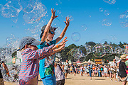 Bubbles inc continues to entertain the kid - The 2018 Latitude Festival, Henham Park. Suffolk 14 July 2018