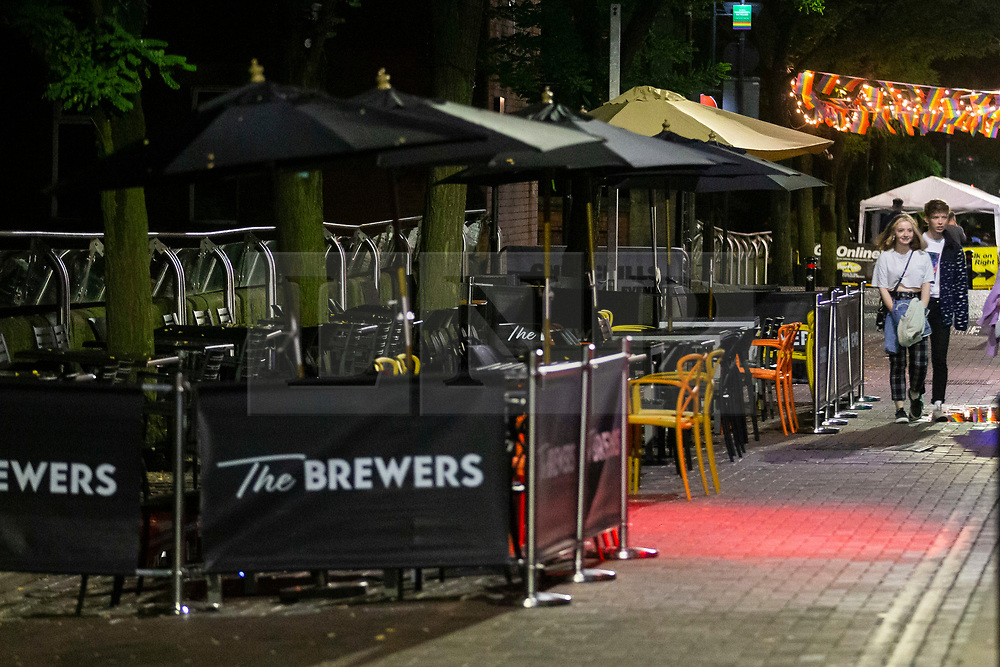 © Licensed to London News Pictures. 23/09/2020. Manchester, UK. Quiet night at Gay Village, Manchester on the last day before national restrictions, including pub curfews, are introduced tomorrow. [24/09/2020]. Photo credit: Kerry Elsworth/LNP