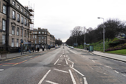 Edinburgh, Scotland, UK. 18 March 2020. Coronavirus scare leads to empty streets in Edinburgh  such as London Road shown during normally busy morning rush hour. Edinburgh,. Iain Masterton/Alamy Live News.