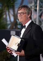 Director Tod Haynes accepts the award for Best performance by an actress ex-aequo for Rooney Mara in Carol at the Palm D'Or award winners photo call at the 68th Cannes Film Festival Sunday May 24th 2015, Cannes, France.