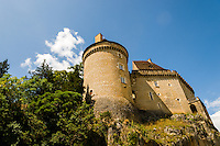 France, Cabrerets. Château de Cabrerets.