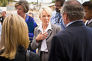 Oct. 4, 2010 - PHOENIX, AZ: Arizona Governor JAN BREWER talks to staff members at Maricopa Medical Center in Phoenix, AZ, Monday. She was at the hospital to declare Arizona Child Health Day. Gov. Brewer is running for reelection appears headed to an easy win. Since signing Arizona's tough immigration bill, SB 1070, and cutting budgets for some of Arizona's social services, like health care for children, her popularity has soared. Her reelection campaign has been dogged by protests from education, health care and immigration advocates but she doesn't engage them and continues to be popular in pre-election polling.      Photo by Jack Kurtz
