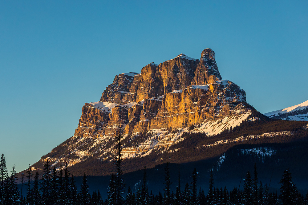 Castle Mountain in the Canadian Rockies