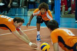 01-07-2012 VOLLEYBAL: EUROPEAN LEAGUE TURKIJE - NEDERLAND: ANKARA<br /> Nederland wint de European League 2012 door Turkije met 3-2 te verslaan / <br /> Nimir Abdelaziz (#1 NED)<br /> ©2012-FotoHoogendoorn.nl/Conny Kurth