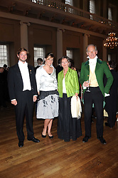 Left to right, COUNT DIMITRI TOLSTOY-MILOSLAVSKY, EMILY GARNETT and COUNT & COUNTESS NIKOLAI TOLSTOY-MILOSLAVSKY at the 13th annual Russian Summer Ball held at the Banqueting House, Whitehall, London on 14th June 2008.<br /><br />NON EXCLUSIVE - WORLD RIGHTS