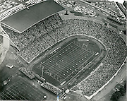 In 1965, 53,000 fans all but filled the University of Washington Stadium to see the Huskies defeat the University of Idaho, 19 to 7, in the season opener. (Pete Liddell / The Seattle Times)