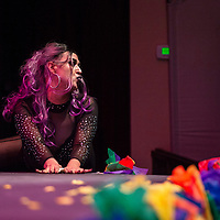Daphney Eroticka performing at the True Colors Drag and Talent Show, Saturday Sept. 29, 2018 at El Morro Theatre in Gallup as part of Pride weekend.