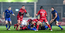 Scarlets' Werner Kruger in action <br /> <br /> Photographer Craig Thomas/Replay Images<br /> <br /> Guinness PRO14 Round 17 - Scarlets v Leinster - Friday 9th March 2018 - Parc Y Scarlets - Llanelli<br /> <br /> World Copyright © Replay Images . All rights reserved. info@replayimages.co.uk - http://replayimages.co.uk