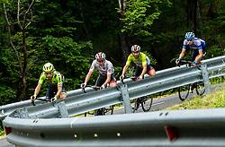 Giovanni Visconti (ITA) of Neri Sottoli Selle Italia KTM, Tadej Pogacar (SLO) of UAE Team Emirates, Diego Ulissi (ITA) of UAE Team Emirates and Aleksandr Vlasov (RUS) of Gazprom - Rusvelo during 4th Stage of 26th Tour of Slovenia 2019 cycling race between Nova Gorica and Ajdovscina (153,9 km), on June 22, 2019 in Slovenia. Photo by Vid Ponikvar / Sportida