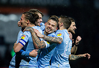 Leeds United's Patrick Bamford celebrates scoring the opening goal with teammates<br /> <br /> Photographer Alex Dodd/CameraSport<br /> <br /> The EFL Sky Bet Championship - 191123 Luton Town v Leeds United - Saturday 23rd November 2019 - Kenilworth Road - Luton<br /> <br /> World Copyright © 2019 CameraSport. All rights reserved. 43 Linden Ave. Countesthorpe. Leicester. England. LE8 5PG - Tel: +44 (0) 116 277 4147 - admin@camerasport.com - www.camerasport.com