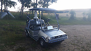 A DIY BACK TO THE FUTURE GOLF CART <br /> <br /> Patience, late nights, caffeine, patience, and sweat' are the ingredients behind this Delorean Golf Cart. Yes, Delorean golf cart, as in Back to the Future golf cart. This exciting design was built as part of the Red Deer College 30th Annual Golf Classic, and the right to drive the cart was auctioned off recently <br /> <br /> The team who built this included David and Vicki Heykants, John Perrin, and Lucas Evanochko. Each member of the team had a specific task, whether it be master fabricator or electronics guy. And somehow they came up with this contraption that puts all our other traditional golf carts to shame.<br /> <br /> In the day, this golf cart looks incredible, but when it gets dark, prepare yourself for some exciting times because the Dolorean golf cart lights up with an LED strip. The cart also comes with a dash panel that features Marty McFly quotes, music, Biff quotes, and engine starting sounds.<br /> ©Lucas Evanochko/Exclusivepix Media