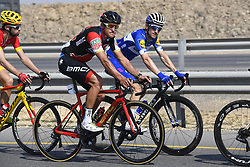 February 15, 2018 - Muscat, Oman - VAN AVERMAET Greg  (BEL)  of BMC Racing Team, DEVENYNS Dries  (BEL)  of Quick - Step Floors during stage 3 of the 9th edition of the 2018 Tour of Oman cycling race, a stage of 179.5 kms between German University of Technology and Wadi Dayqah Dam on February 15, 2018 in Muscat, Sultanate Of Oman, 15/02/2018 (Credit Image: © Panoramic via ZUMA Press)