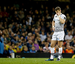 Ospreys' Dan Biggar<br /> <br /> Photographer Simon King/Replay Images<br /> <br /> Guinness PRO14 Round 21 - Cardiff Blues v Ospreys - Saturday 28th April 2018 - Principality Stadium - Cardiff<br /> <br /> World Copyright © Replay Images . All rights reserved. info@replayimages.co.uk - http://replayimages.co.uk