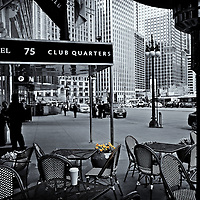 Club Quarters<br />Edited, converted to B&W 2/27/15