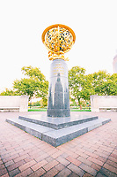 This is listed as one of the Peace Monuments dedicated in 1950-1954. It is a memorial to the aviators of Pennsylvania killed in World War I. Paul Manship (1885-1966) was the sculptor and Joseph Patterson Sims (1890-1953) was the architect. The sculpture is made of bronze and limestone it is shaped like a celestial sphere, the outer structure suggests an astronomical instrument, and the figures illustrate signs of the zodiac. First proposed during World War I by the Aero Club of Pennsylvania, the memorial was commissioned by the Fairmount Park Art Association. It was donated to the City of Philadelphia in 1950.