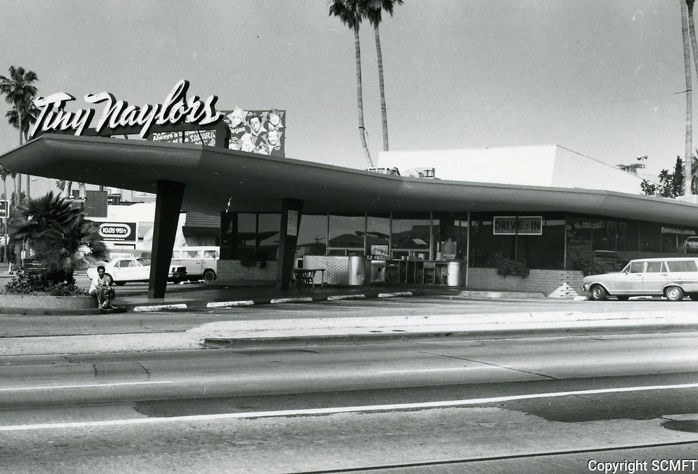 1976 Tiny Naylor's Drive In at Sunset Blvd. & La Brea Ave