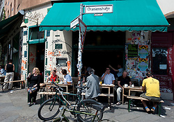 Typical bohemian cafe on Oranienstrasse in Kreuzberg Berlin 2009
