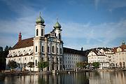 The Jesuit Church of Lucerne, Switzerland.
