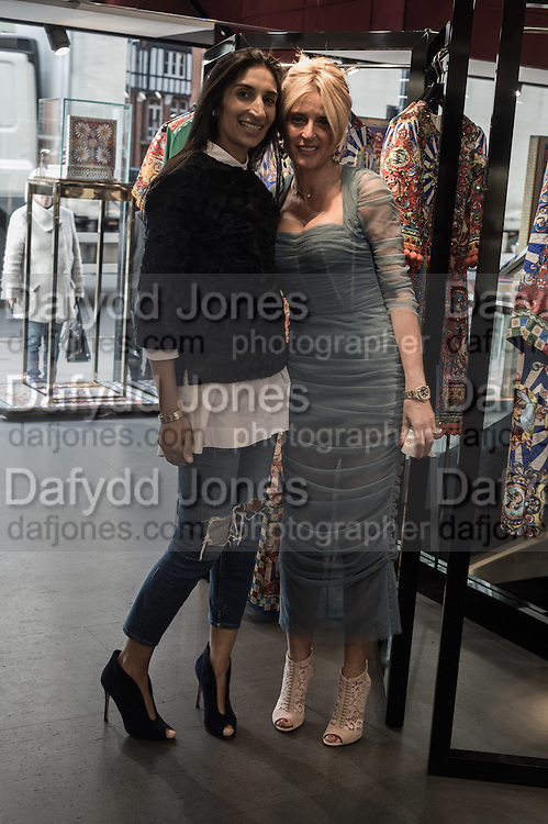 NOREEN GOODWIN; ANNA SCOLARO, Anna Scolaro hosts a charity shopping event at  Dolce and Gabbana, 175 Sloane St. London. In aid of TeamFox.org for Parkinsons. 10 February 2016