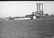 """The 'Powers' Gold Cup, Fairyhouse..1971..13.04.1971..04.13.1971..13th April 1971..The Running of the 'Powers' Gold Cup,sponsored by Irish Distillers, was run today at Fairyhouse, Co Meath..The race was won by 'Glending""""ridden by John Donaghy. The horse is owned by Mr J.W.Osborne and trained by Mr P.D.Osborne..Pictured way out in front is the winner 'Glending' ridden by jockey,John Donaghy. 'Glending' proved to be a class apart in the race."""